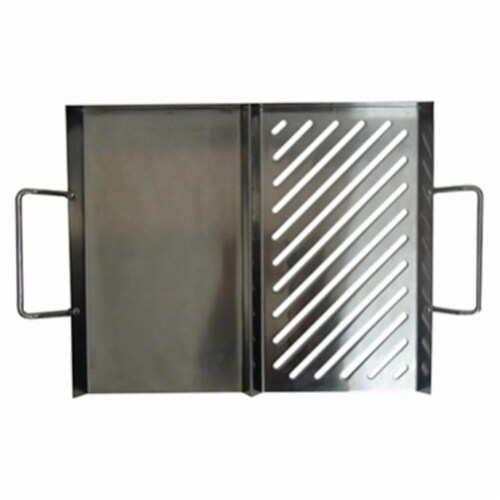 Mr. Bar-B-Q Products LLC. 233975 Grill Zone Stainless Steel Dual Grill Topper Perspective: front