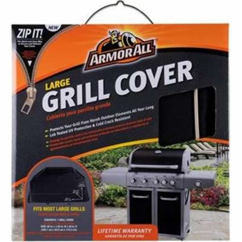 Mr Bar B Q 07801AA 45 x 25 x 65 in. Armor All Grill Cover, Black Perspective: front