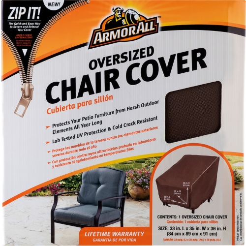 Armor All® Oversized Chair Cover - Brown Perspective: front