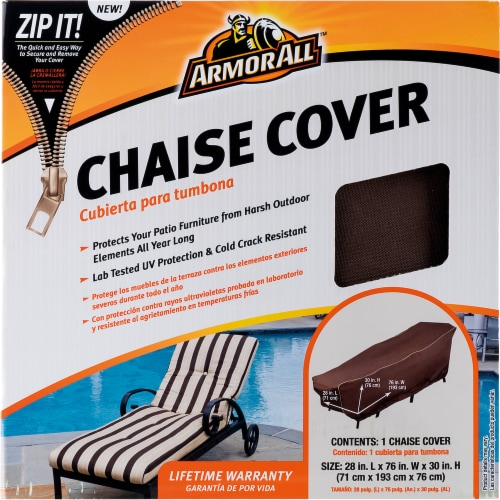 Armor All® Chaise Cover - Brown Perspective: front