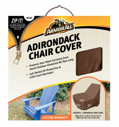 Armor All® Adirondack Chair Cover - Brown Perspective: front