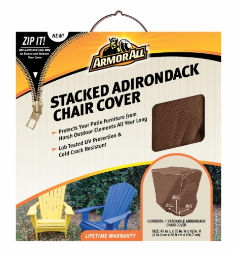 Armor All® Stacked Adirondack Chair Cover - Brown Perspective: front