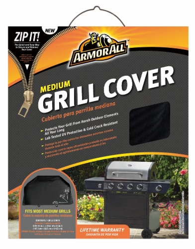 Armor All® Medium Grill Cover - Black Perspective: front