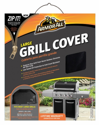Armor All® Large Grill Cover - Black Perspective: front