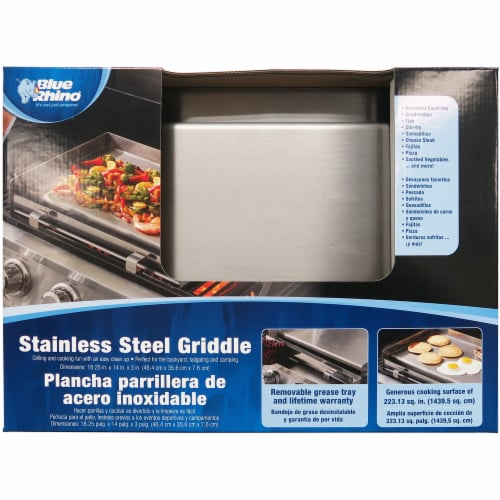 Blue Rhino Stainless Steel Griddle Perspective: front