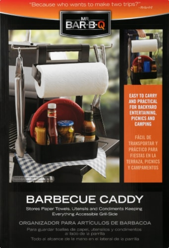 Mr. Bar-B-Q Plastic Barbecue Caddy Perspective: front