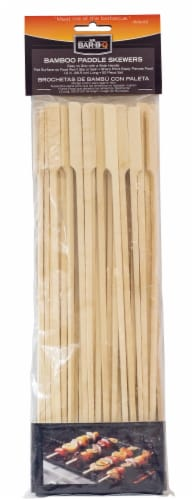 Mr. Bar-B-Q Flat Bamboo Skewers with Handle Perspective: front