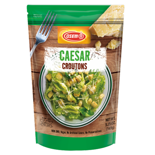 Osem Mediterranean Caesar Croutons Perspective: front