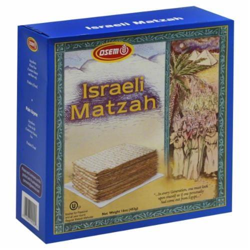 Osem Passover Matzah Perspective: front