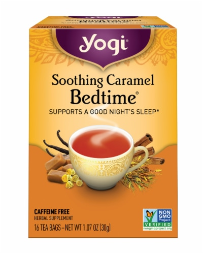 Yogi Bedtime Soothing Caramel Tea Bags Perspective: front
