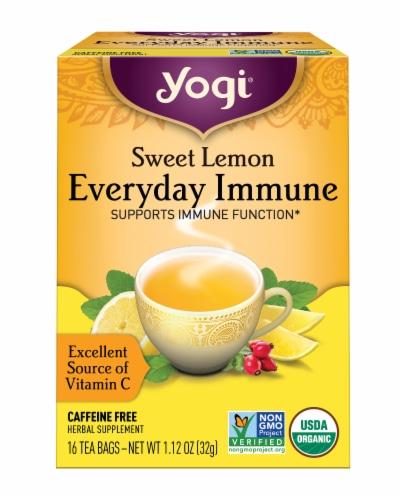 Yogi Sweet Lemon Everyday Immune Tea Perspective: front