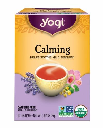 Yogi Organic Calming Caffeine Free Tea Bags Perspective: front