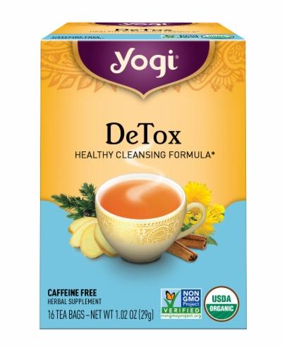 Yogi DeTox Tea Bags Perspective: front