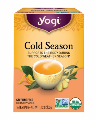 Yogi Cold Season Caffeine Free Tea Bags Perspective: front