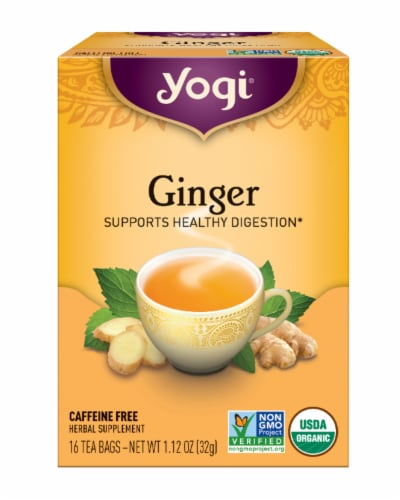 Yogi Ginger Tea Bags Perspective: front