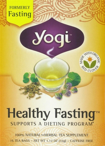 Yogi Healthy Fasting Tea Bags Perspective: front