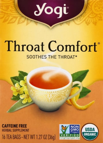 Yogi Throat Comfort Tea Bags Perspective: front