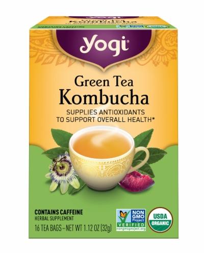 Yogi Kombucha Green Tea Bags Perspective: front