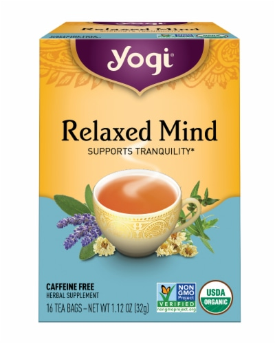 Yogi Relaxed Mind Caffeine Free Tea Bags Perspective: front