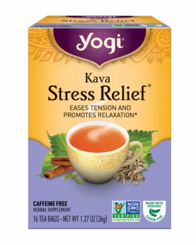 Yogi Kava Stress Relief Tea Bags Perspective: front