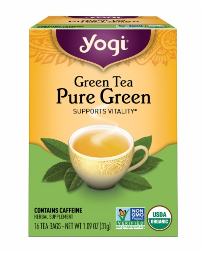 Yogi Pure Green Tea Bags Perspective: front