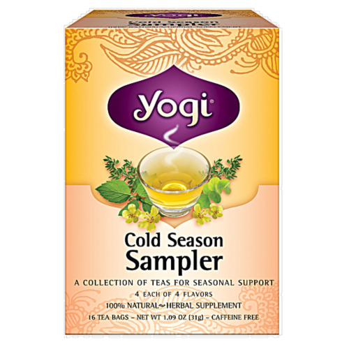 Yogi Cold Season Tea Sampler Perspective: front