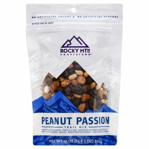 Rocky Mountain Treats Peanut Passion & Raisins Trail Mix Perspective: front