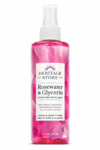 Heritage Store Rosewater & Glycerin with Atomizer Skin Moisturizer Perspective: front