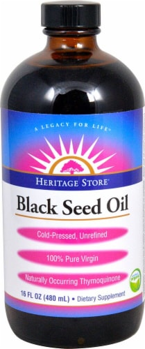 Heritage Products  Organic Black Seed Oil Perspective: front