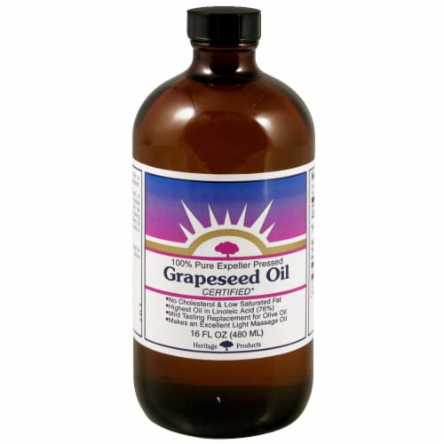 Heritage Products Grapeseed Oil Perspective: front