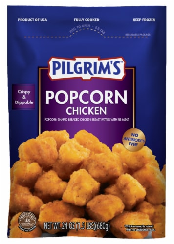 Pilgrim's Fully Cooked Popcorn Chicken Perspective: front