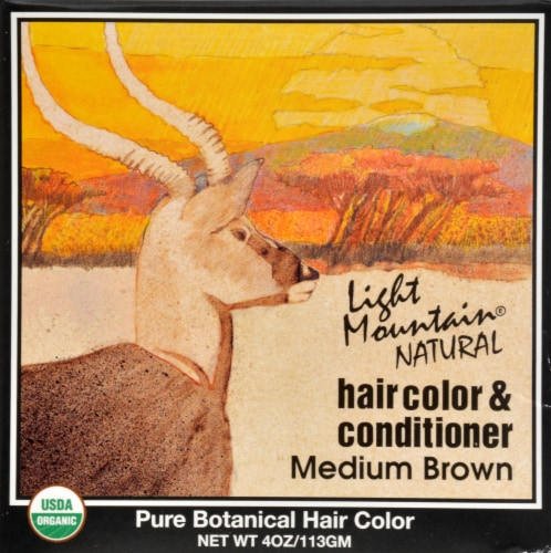 Light Mountain Medium Brown Hair Color & Conditioner Perspective: front