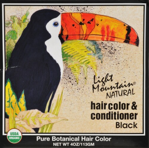 Light Mountain Natural Black Hair Color & Conditioner Perspective: front