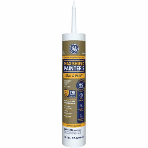 GE Max Shield Painters 10.1 Oz. White Advanced Polymer Acrylic Latex Sealant Perspective: front