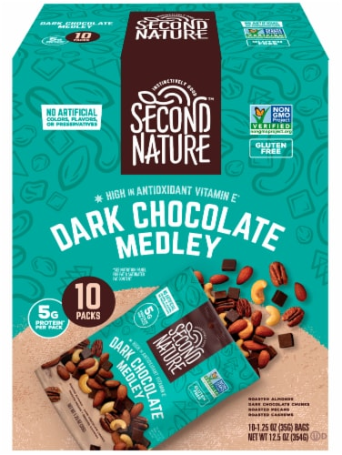 Second Nature® Gluten Free Dark Chocolate Medley Mix Packs Perspective: front