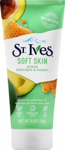 St. Ives Soft Skin Avocado & Honey Scrub Perspective: front