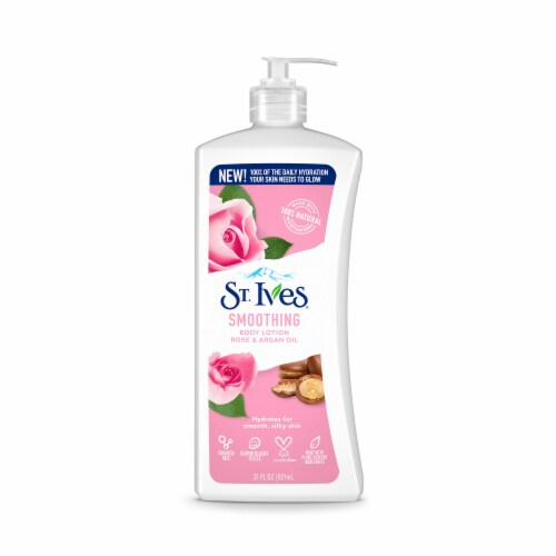 St. Ives Smoothing Rose & Argan Oil Body Lotion Perspective: front