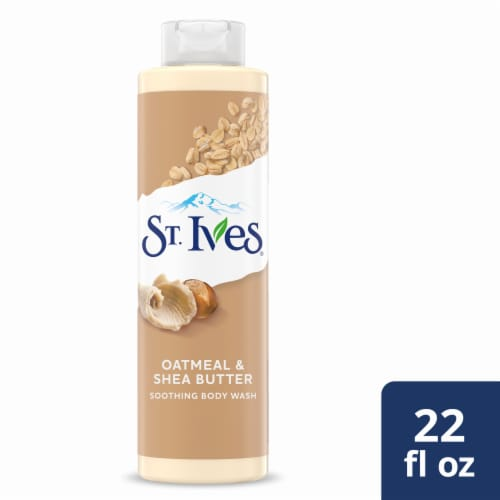 St. Ives Oatmeal & Shea Butter Soothing Body Wash Perspective: front