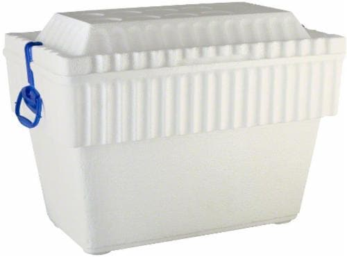 Lifoam White Ice Chest with Handles Perspective: front