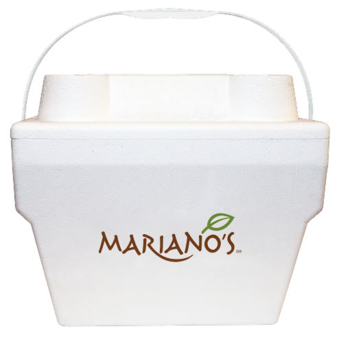 Mariano's Recyclable Cooler - White Perspective: front