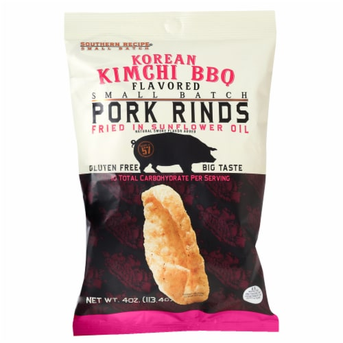 Southern Recipe Korean Kimchi BBQ Flavored Pork Rinds Perspective: front