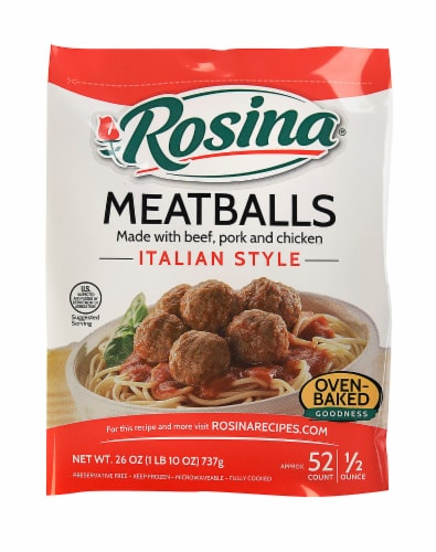 Rosina Italian Style Meatballs Perspective: front