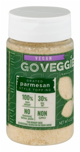 Go Veggie Vegan Grated Parmesan Style Topping Perspective: front