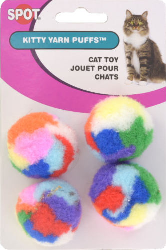 Spot Pet Kitty Yarn Puffs Perspective: front