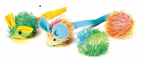 Spot Ethical Stringy Mice & Ball Cat Toy Perspective: front