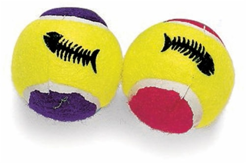 Spot Catnip Tennis Balls Toy Perspective: front
