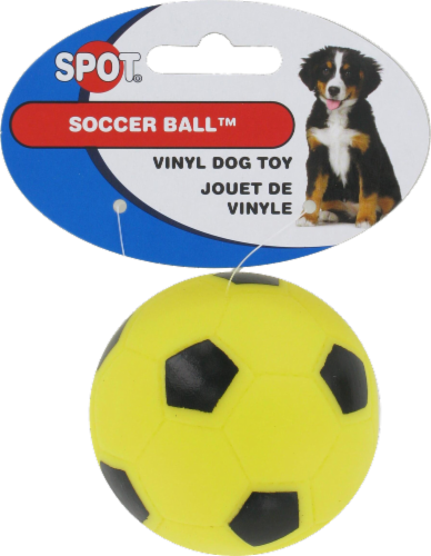 Spot Soccer Ball Vinyl Dog Toy Perspective: front