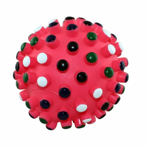 Ethical Vinyl Gumdrop 5in Ball Dog Toy Perspective: front