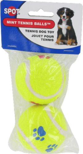Spot Paw Print Tennis Balls Twin Pack Perspective: front