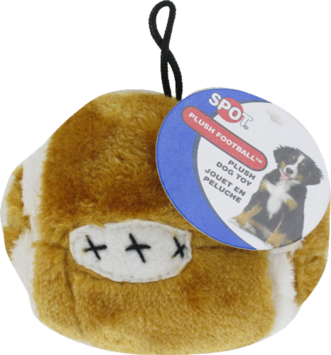 Spot Plush Football Dog Toy Perspective: front